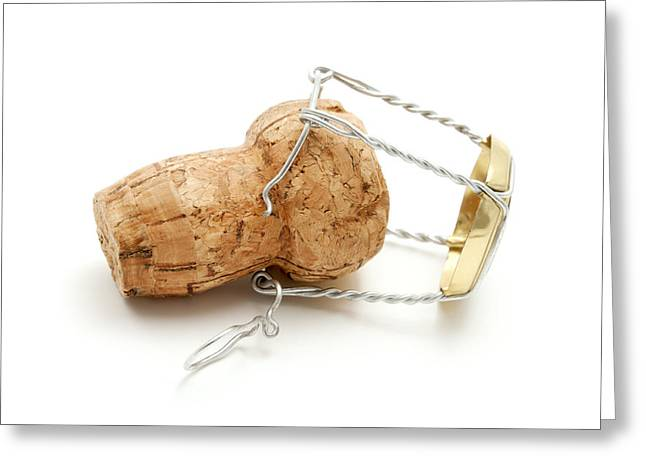 White Photographs Greeting Cards - Champagne cork stopper Greeting Card by Fabrizio Troiani