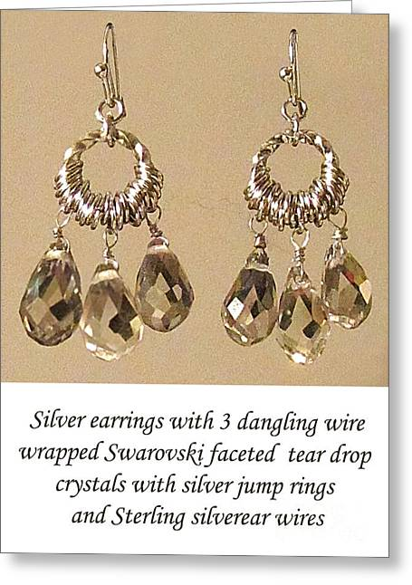 Wrap Jewelry Greeting Cards - Champagne Danglers Greeting Card by Jennie Breeze