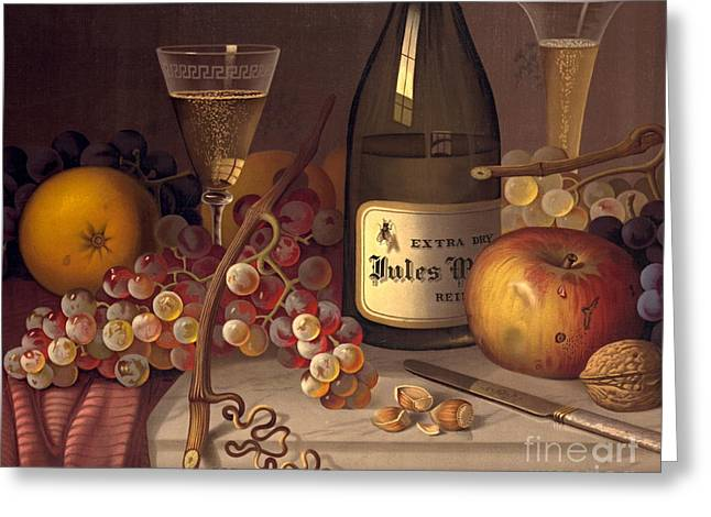 Champagne Still Life 1875 Greeting Card by Padre Art