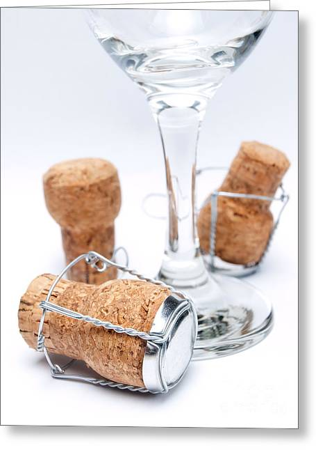 Bottle Cap Greeting Cards - Champagne utensils Greeting Card by Sinisa Botas