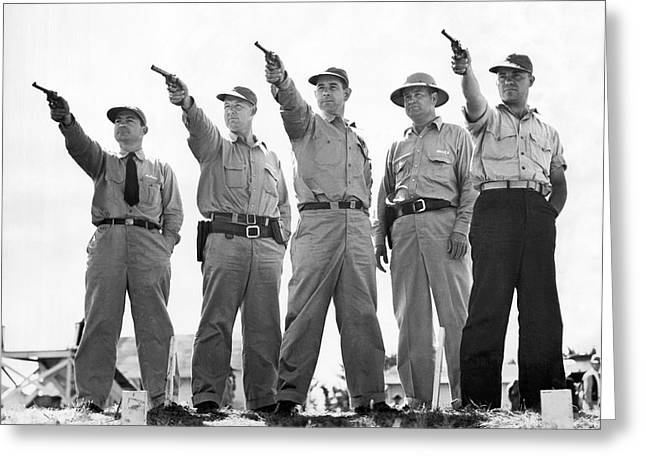 Champion Police Shooters Greeting Card by Underwood Archives