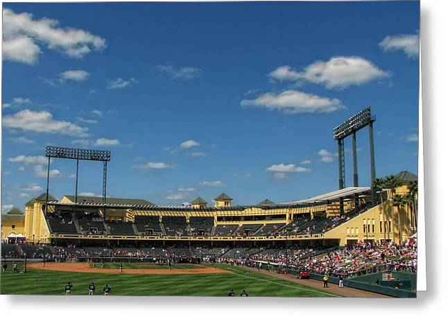 Espn Photographs Greeting Cards - Champion Stadium Greeting Card by Tom Gort