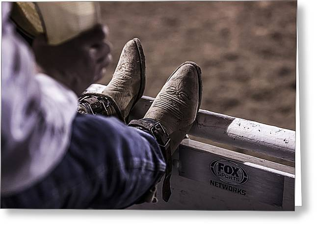 George Paul Memorial Rodeo Greeting Cards - Champions Boots Greeting Card by Amber Kresge
