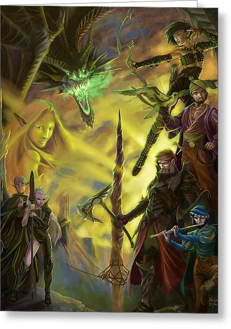 Playing Digital Art Greeting Cards - Champions of Deniska Greeting Card by Bryan Syme