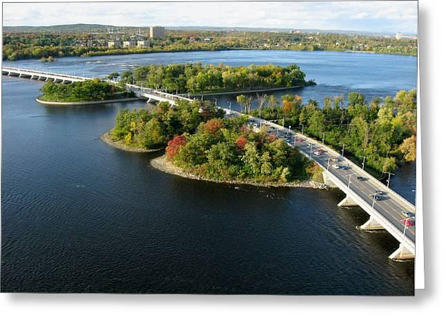 Kite Greeting Cards - Champlain Bridge Greeting Card by Rob Huntley