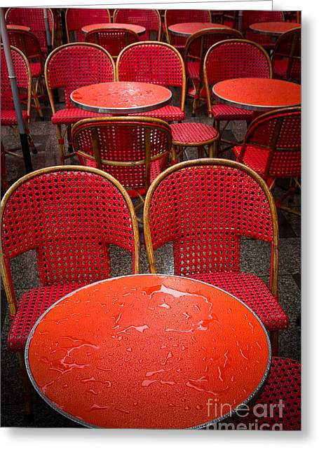 Champs Elysees Cafe Greeting Card by Inge Johnsson