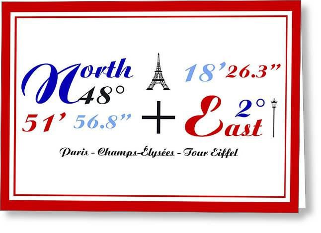 Art Photography Greeting Cards - Champs Elysees in Paris and Tour Eiffel  Coordinate Art Greeting Card by Art Photography