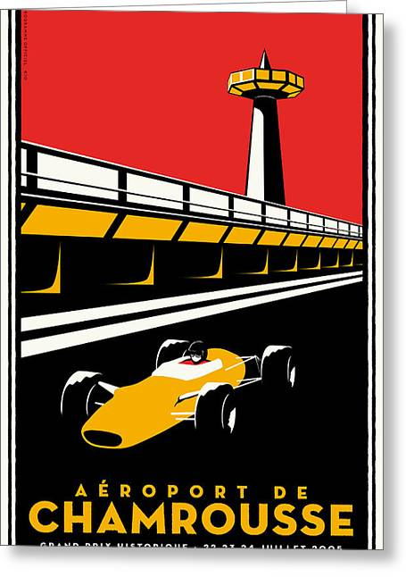 Rally Greeting Cards - Chamrousse Grand Prix Greeting Card by Nomad Art And  Design