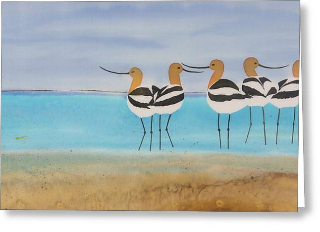 Chance encounter at the beach Greeting Card by Carolyn Doe