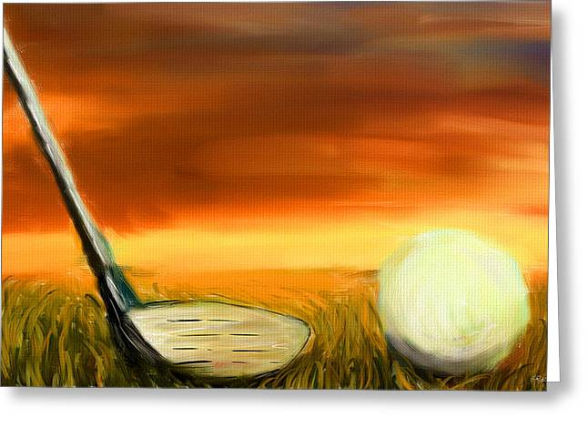 Golf Digital Art Greeting Cards - Chance To Hit Greeting Card by Lourry Legarde