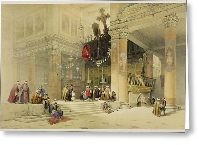 Chancel Of The Church Of St. Helena Greeting Card by David Roberts