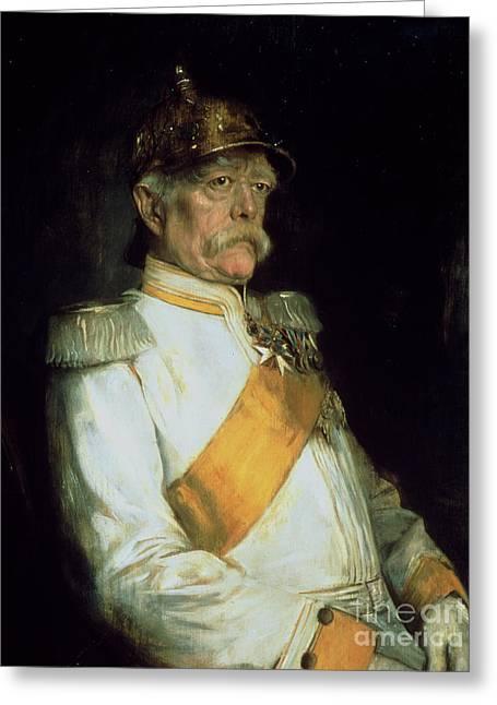 Chancellor Otto Von Bismarck Greeting Card by Franz Seraph von Lenbach