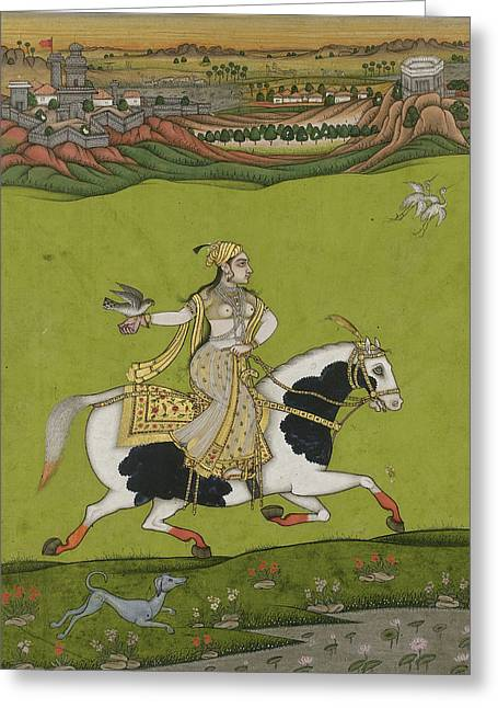 Jihad Greeting Cards - Chand Bibi Hawking Greeting Card by Celestial Images