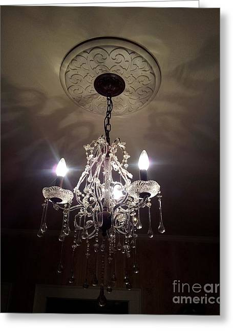 Sepia Chandeliers Greeting Cards - Chandelier Shadows  Greeting Card by Julie Brugh Riffey