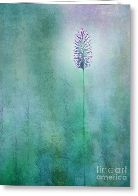 Textured Digital Art Greeting Cards - Chandelle Greeting Card by Priska Wettstein