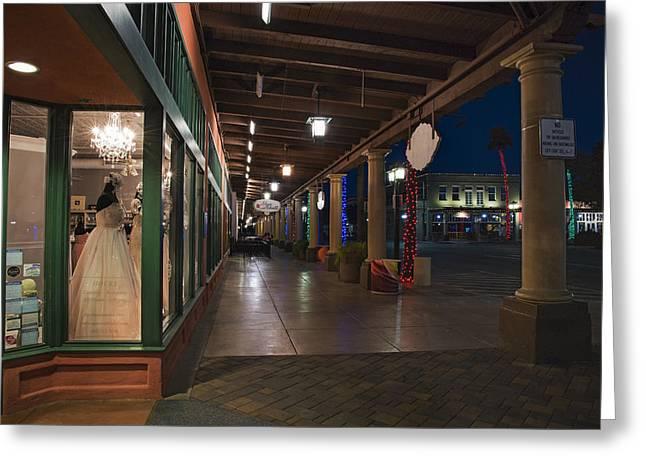 Chandler Arizona Boardwalk  Greeting Card by Dave Dilli