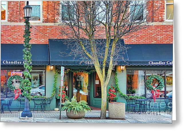 Chandler Greeting Cards - Chandler Cafe Greeting Card by Jack Schultz