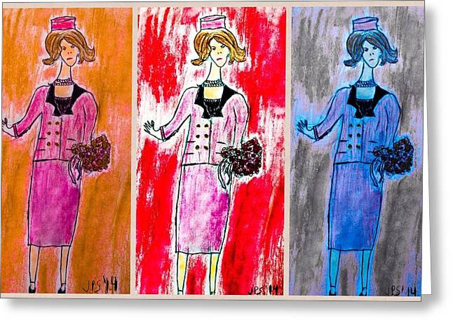 Jacqueline Kennedy Greeting Cards - Chanel X 3 Greeting Card by Jim Smith