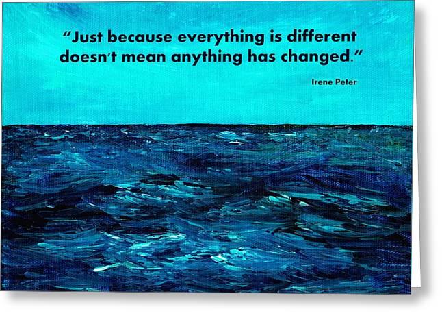 Carl Gustav Jung Greeting Cards - Change Greeting Card by Anastasiya Malakhova