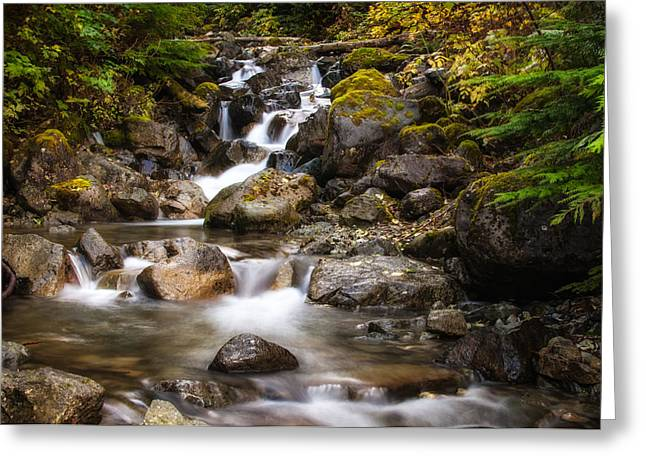 North Fork Greeting Cards - Change Creek Greeting Card by Rich Leighton