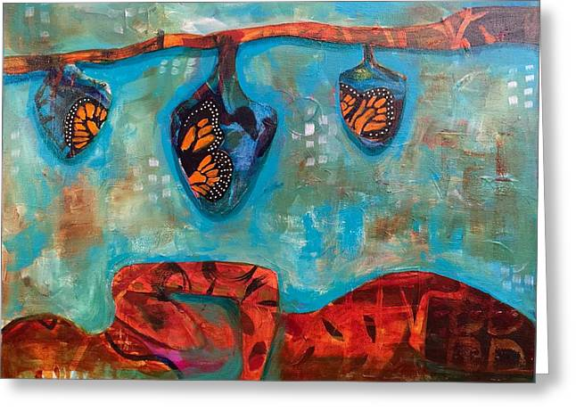 Cocoon Greeting Cards - Change is Beautiful Greeting Card by Clarisse Pastor-Medina
