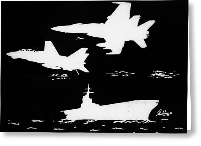 F-18 Drawings Greeting Cards - Change of Guard Greeting Card by Ankit Rukhaiyar