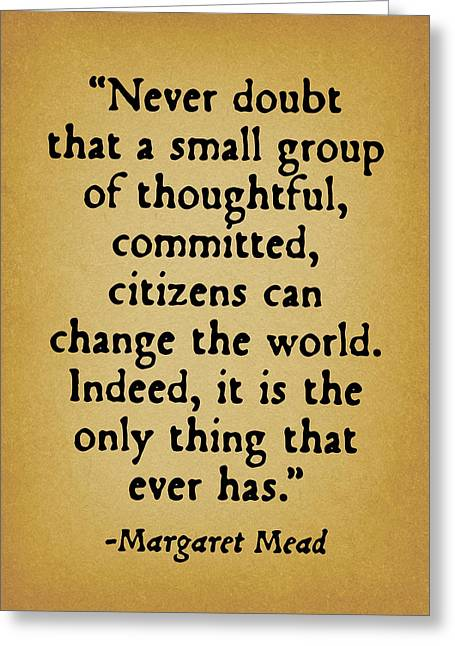 Quote Greeting Cards - Change The World Greeting Card by God and Country Prints