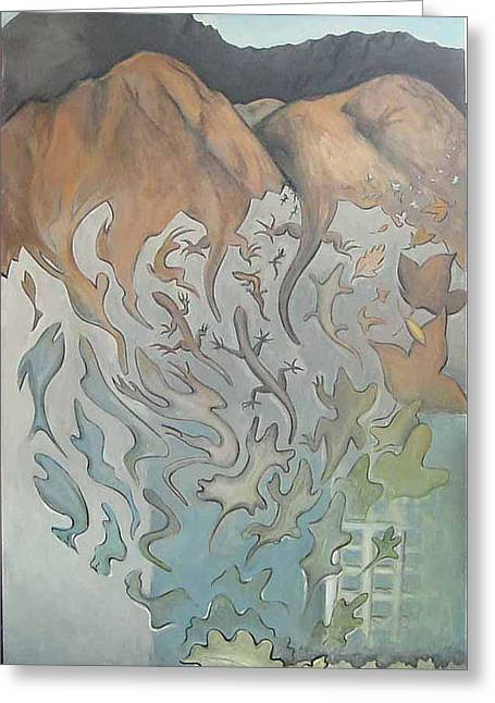 Morphing Paintings Greeting Cards - Changes Greeting Card by Jan Morrison