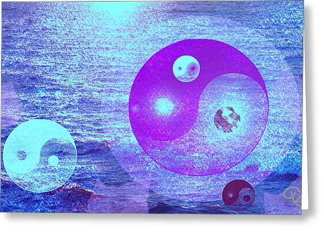 Yang Greeting Cards - Changing Currents of Reality Greeting Card by Ute Posegga-Rudel