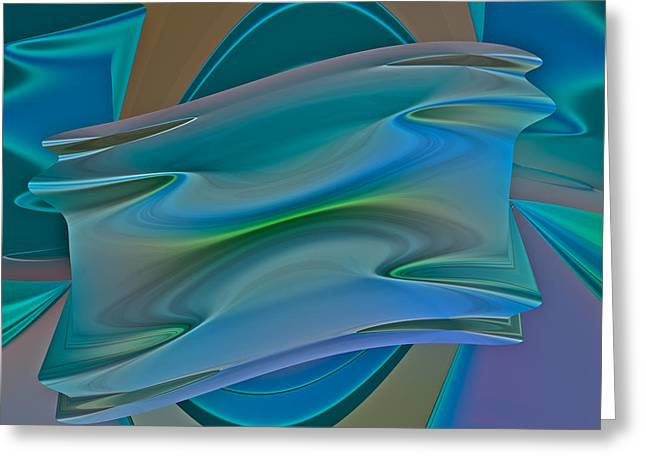 Recently Sold -  - Generative Abstract Greeting Cards - Changing Expectations Greeting Card by Judi Suni Hall