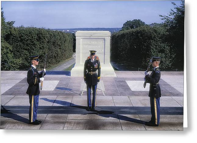 Change The Destination Greeting Cards - Changing of the Guard Greeting Card by Mountain Dreams