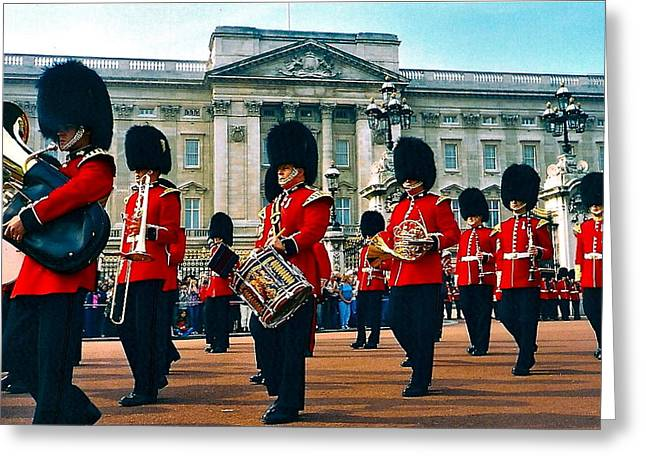 Marching Band Greeting Cards - Changing Of The Guard Greeting Card by Denise Mazzocco