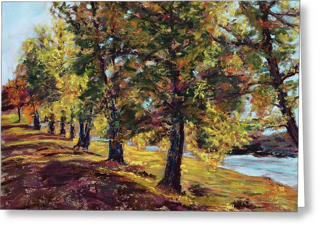 River View Pastels Greeting Cards - Changing of the Guard Greeting Card by Mary Benke