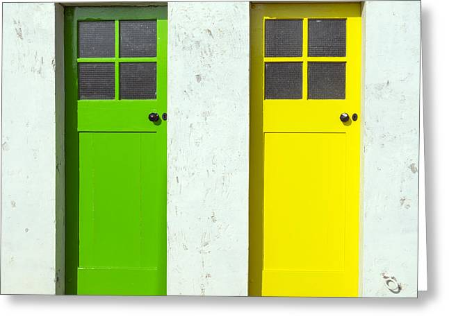 Cubicle Greeting Cards - Lemon and Lime Greeting Card by Michelle Bailey