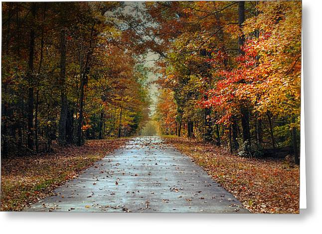 Autumn Scenes Greeting Cards - Changing Season 2 - Autumn Landscape Greeting Card by Jai Johnson