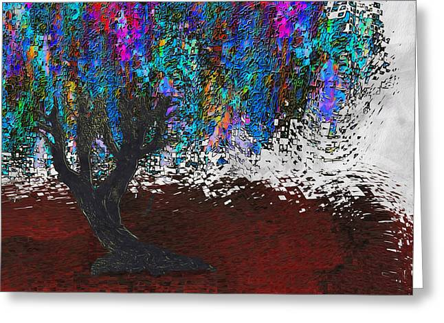 Installation Art Greeting Cards - Changing Tree Greeting Card by Jack Zulli