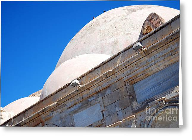 Medieval Temple Greeting Cards - Chania mosque 05 Greeting Card by Antony McAulay