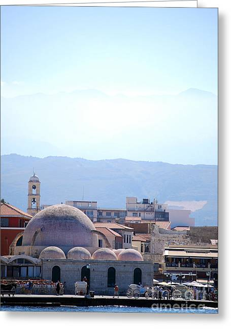 Medieval Temple Greeting Cards - Chania mosque Greeting Card by Antony McAulay