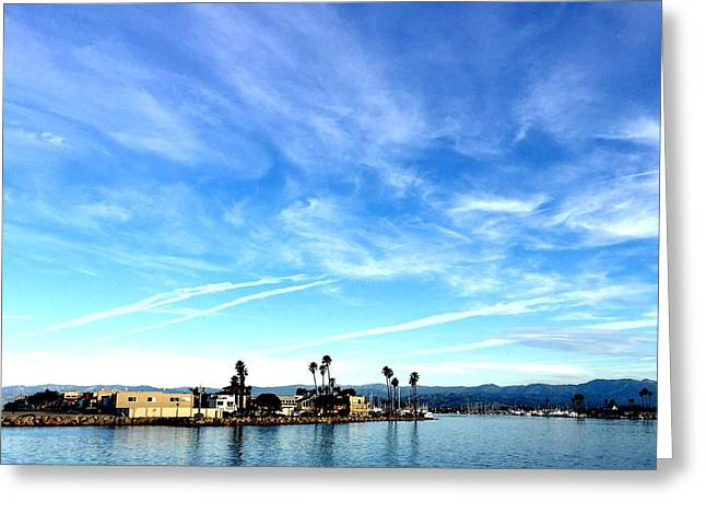 Ventura California Greeting Cards - Channel Island of Ventura California Greeting Card by Artemisa