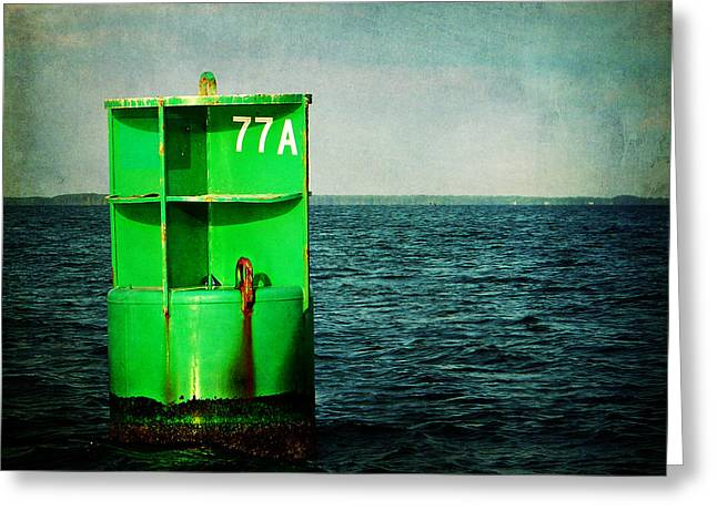 Channel Marker 77a Greeting Card by Rebecca Sherman