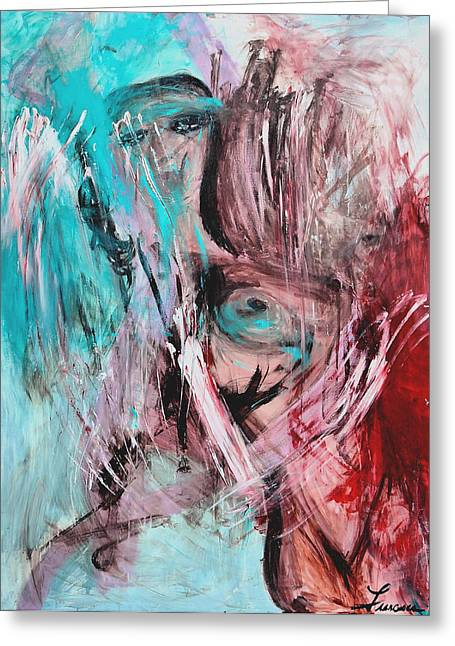 Exploited Greeting Cards - Channeling my inner de Kooning Greeting Card by Francesca Siano