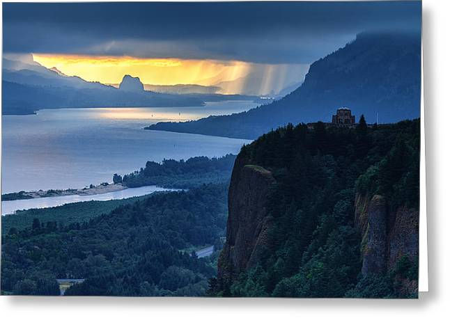 Verga Greeting Cards - Chanticleer Point Sunrise Greeting Card by Thomas Hall Photography