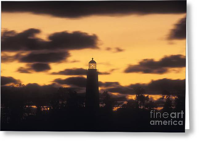 North American Inland Sea Greeting Cards - Chantry Island Lighthouse - FS000819 Greeting Card by Daniel Dempster