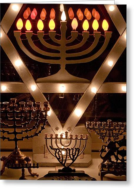 Hanukah Greeting Cards - Chanukah I Greeting Card by Michael Friedman