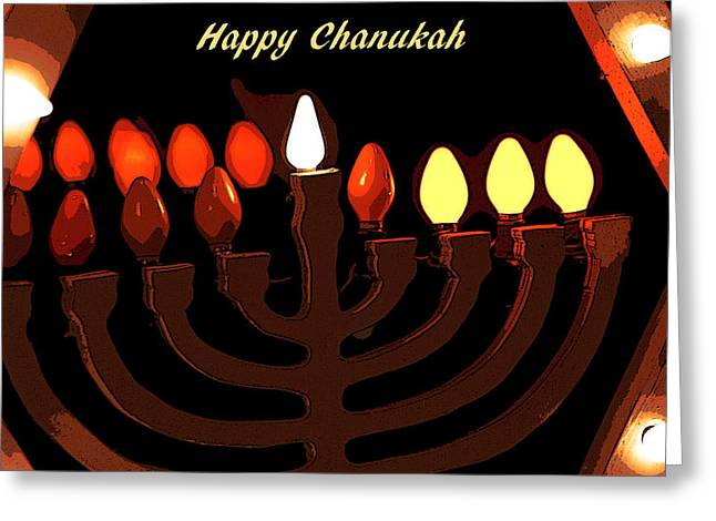 Hanukah Greeting Cards - Chanukah IIc Greeting Card by Michael Friedman