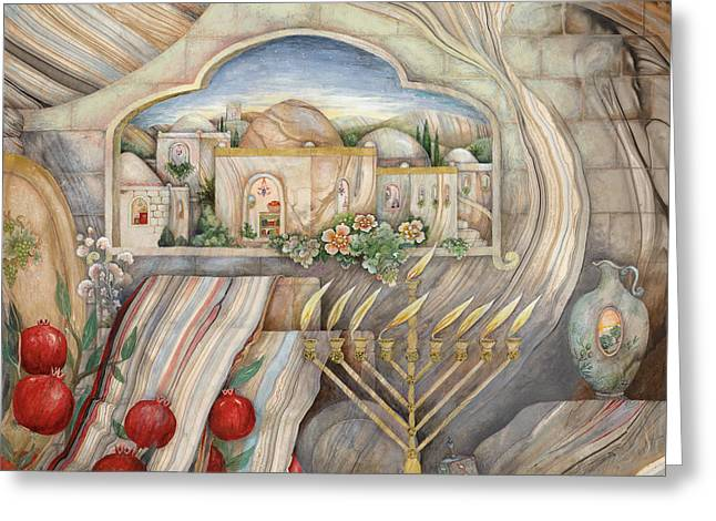 Hanuka Greeting Cards - Chanukah Greeting Card by Michoel Muchnik