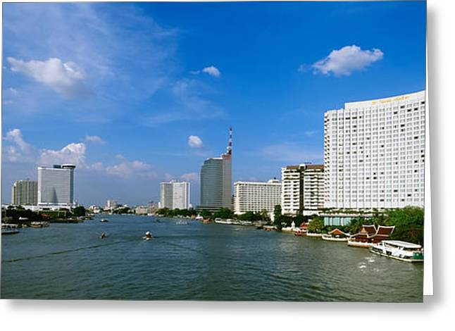 20th Greeting Cards - Chao Phraya River, Bangkok, Thailand Greeting Card by Panoramic Images