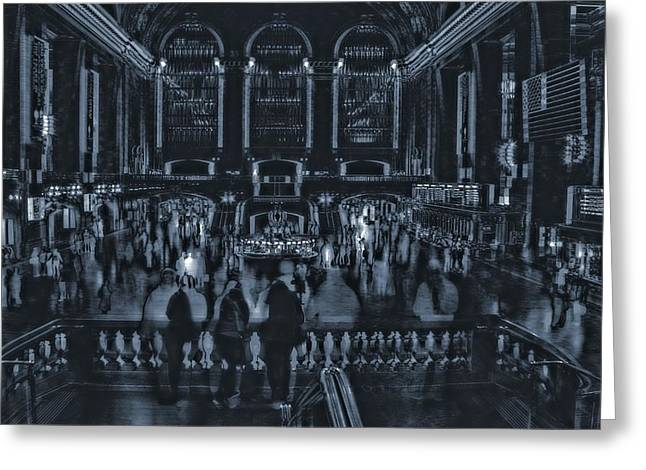 New Mind Greeting Cards - Chaos At Grand Central Terminal Greeting Card by Dan Sproul