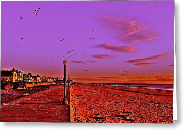 Jerseyshore Greeting Cards - Chaos In The Sky Greeting Card by Joe  Burns