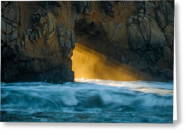 Chaos - Pfeiffer Beach Greeting Card by George Buxbaum